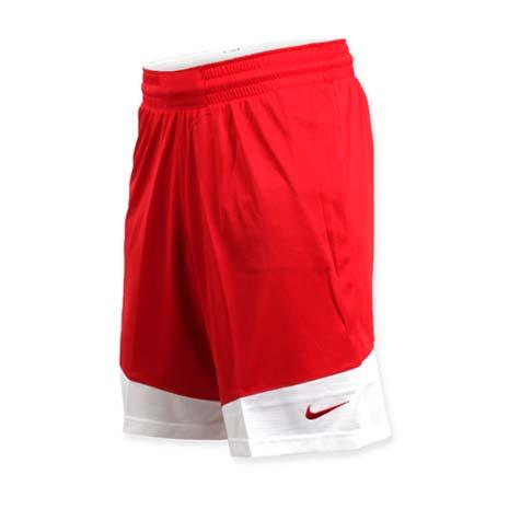 【NIKE】男籃球針織短褲-路跑 慢跑 訓練 五分褲 紅白L