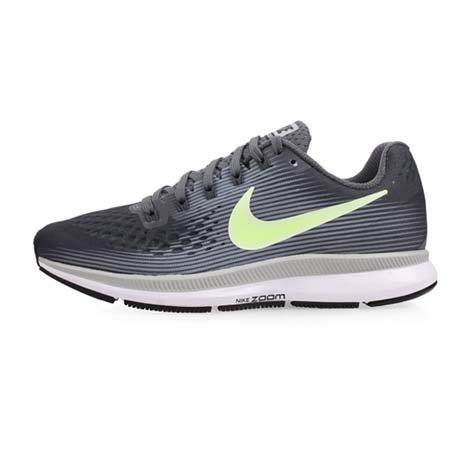 【NIKE】WMNS AIR ZOOM PEGASUS 34 女慢跑鞋-路跑 灰綠23.5