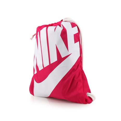 【NIKE】束口袋-後背包 雙肩包 鞋袋 桃白F