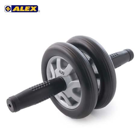 【ALEX】雙輪式滾輪輪直徑14CM-健腹輪 健美輪 健身 肌肉訓練 依賣場F