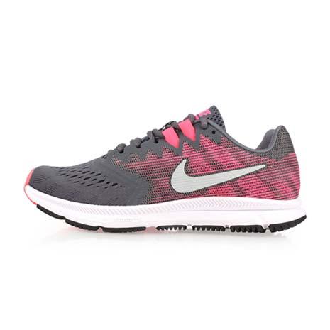 【NIKE】WMNS ZOOM SPAN 2 女慢跑鞋-訓練 健身 路跑 灰粉紅24
