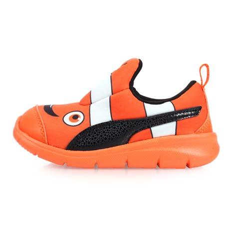 【PUMA】BAO 3 AQUARIUM INF 男女童運動鞋-輕便鞋 童鞋 慢跑 橘黑15.5