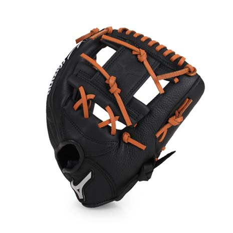 【MIZUNO】少年用棒壘球手套-兒童 右投 競賽 美津濃 黑咖啡F