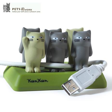【KamKam】貓桌面整線器 + Disney甜甜圈系列-米奇/米妮 吊飾 (隨機出貨)