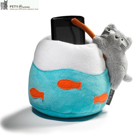 【KamKam】貓-魚缸造型桌上收納座 +【Disney】甜甜圈系列-米奇/米妮 吊飾 (隨機出貨)