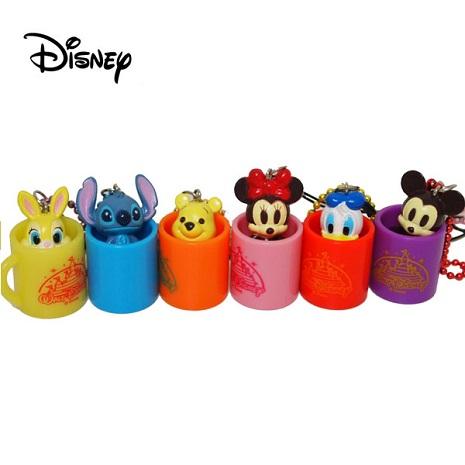 【Disney】馬克杯造型短吊飾-米奇/米妮/邦妮兔/唐老鴨/維尼 +【Disney】維尼家族收納套-小豬維尼
