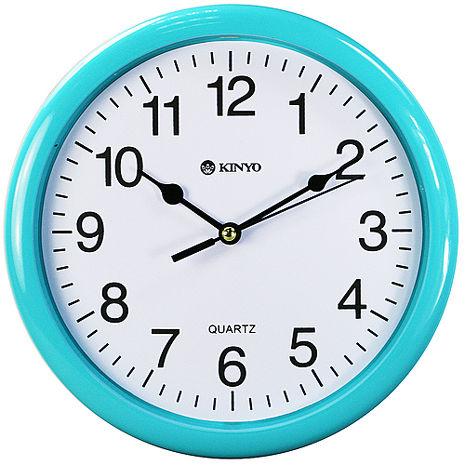KINYO圓形精緻8吋掃秒靜音掛鐘(CL-108)