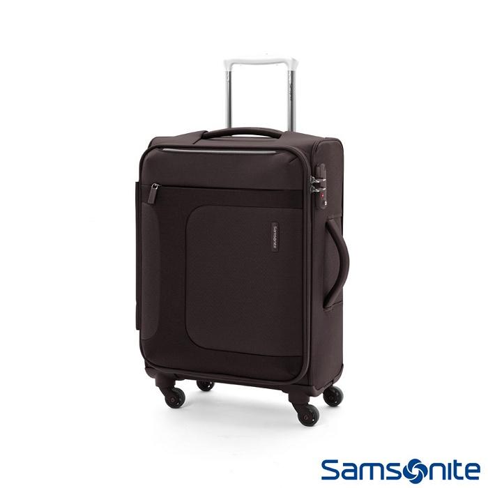 Samsonite 新秀麗 24吋 Asphere可擴充布面軟殼行李箱 (黑)