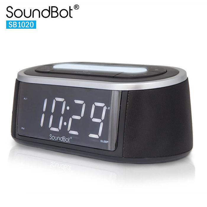 美國聲霸SoundBot SB1020 藍牙FM廣播時鐘鬧鐘 - 2.0聲道喇叭