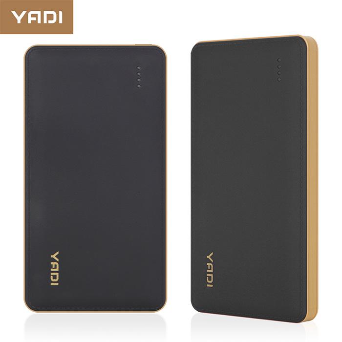 YADI 9000 商務型行動電源仿皮革 經典時尚-黑