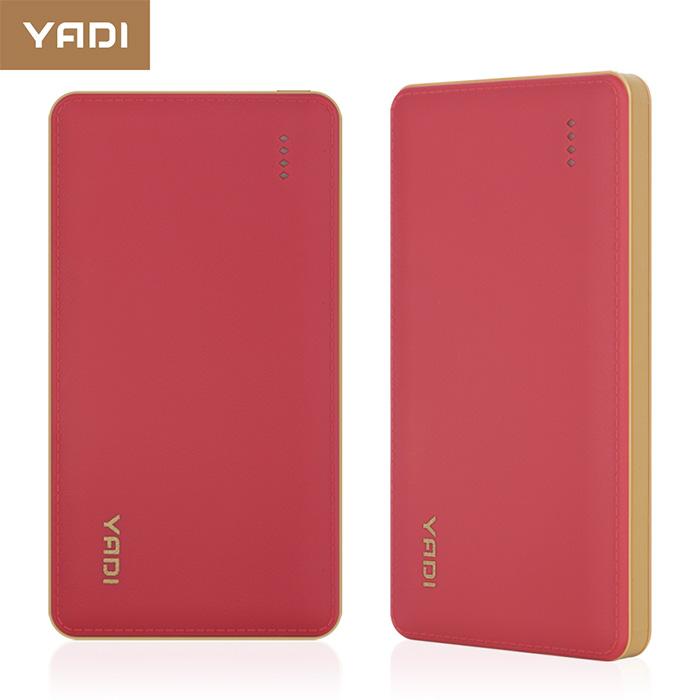 YADI 9000 商務型行動電源仿皮革 經典時尚-紅