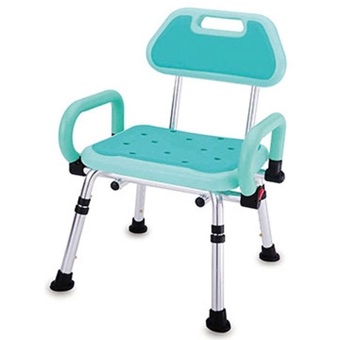 【海夫健康生活館】PE雙掀扶手有背洗澡椅