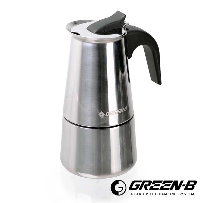 【韓國GREEN-B】不鏽鋼摩卡咖啡壺 4杯 露營/居家/咖啡壺/摩卡壺