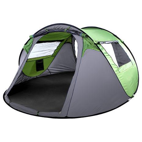 【IDOOGEN】一房兩廳4~5人全自動快速帳篷/速搭帳/秒開帳/帳篷(兩色任選)綠色