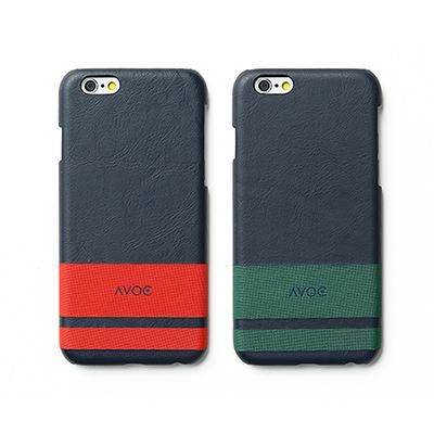 ZENUS AVOC Apple iPhone6 經典條紋皮革保護殼紅色