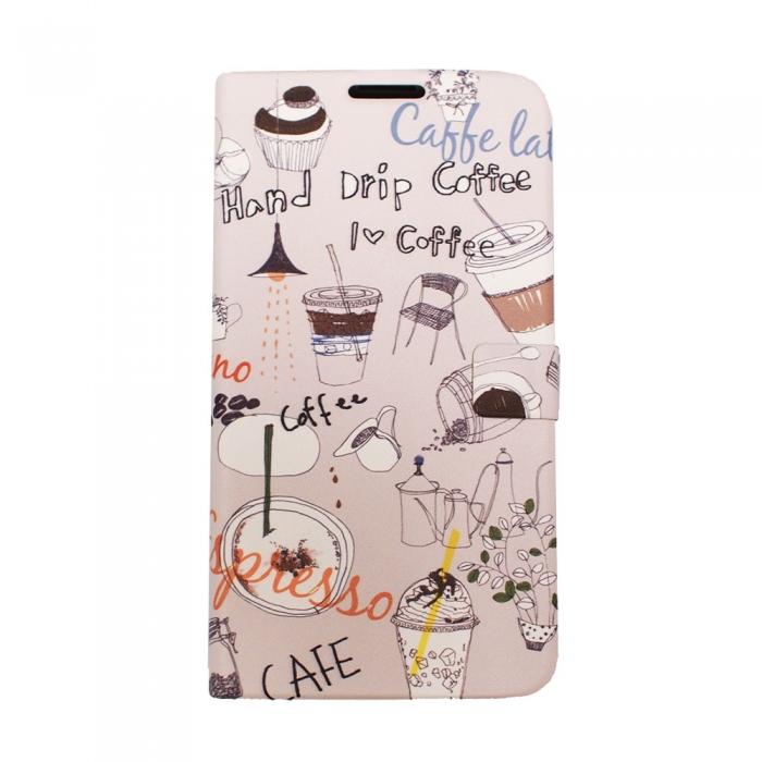 HAPPYMORI SAMSUNG GALAXY J N075 咖啡時光 書本式皮套