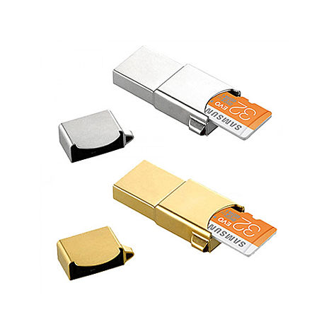 SAMSUNG Metal OTG 32GB 隨身碟【OTG & USB & Card 3合1 】銀色