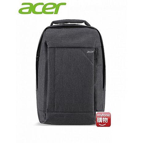Acer 宏碁 原廠 15.6吋 時尚防潑水後背包(灰色)