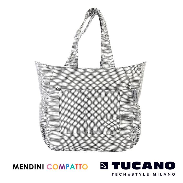 TUCANO X MENDINI 設計師系列超輕量折疊收納托特包- 白