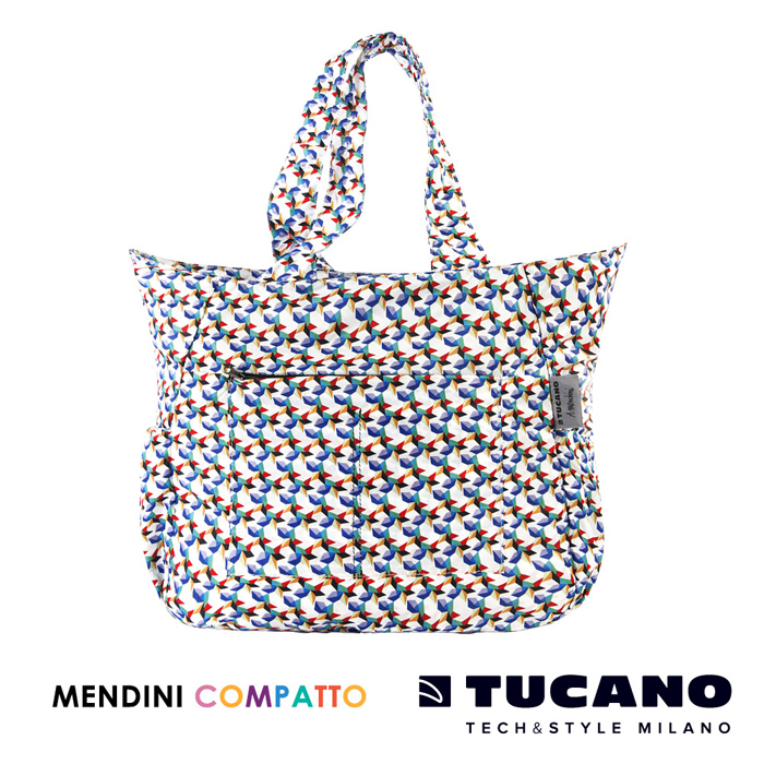 TUCANO X MENDINI 設計師系列超輕量折疊收納托特包- 繽紛
