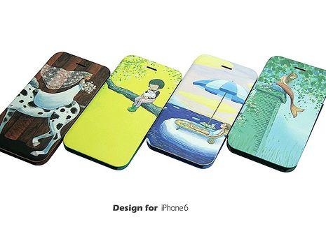 幾米系列《真的假的啊》iPhone 6/6s 4.7吋掀蓋皮套海洋男孩