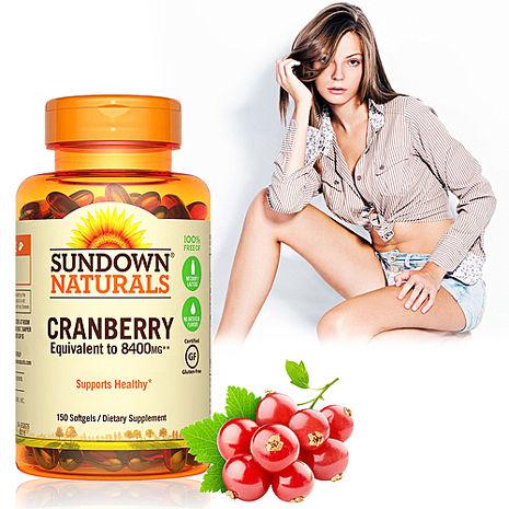 美國Sundown日落恩賜 超級蔓越莓plus維生素D3軟膠囊(150粒/瓶)