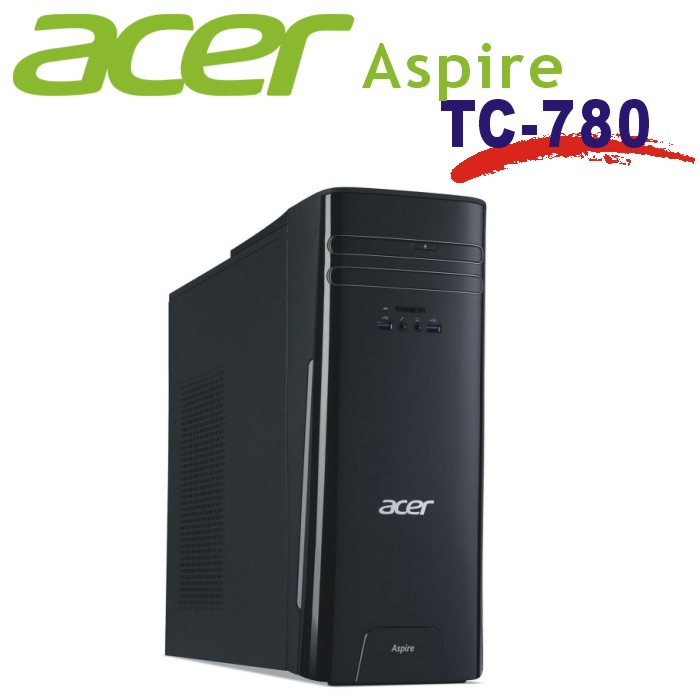 ACER 七代家用獨顯主機 Aspire TC-780 i5-7400/4G/1T/GT720-2G/Windows 10 家用版 64位元