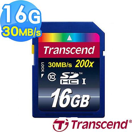 【Transcend 創見】16G SDHC 30MB/s Class10 記憶卡