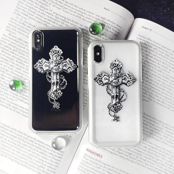 超耐摔浮雕手機殼 iPhone 8/8 plus // iPhone 7/7 plus // iPhone X 十字架-全台知名唐朝藝術紋身 I AM IiPhone 8 Plus