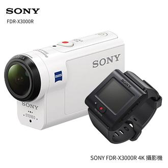 SONY FDR-X3000R 運動攝影機 商品組合含FDR-X3000、 RM-LVR3 新即時檢視遙控器 ★贈電池(共兩顆)+16G高速卡+清潔組