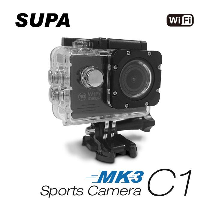 【APP限定】速霸 C1 三代-MK3 1080P WiFi 極限運動 機車防水型行車記錄器