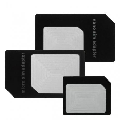 [ZIYA] 智慧型手機/平板電腦 SIM 轉接卡 (大+中+小 X3入)