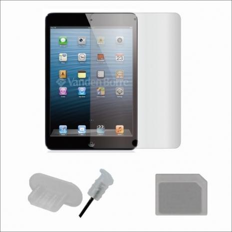 ZIYA iPad mini 抗刮保護貼配件組(防塵孔塞+Nano SIM to Micro SIM 轉接卡)