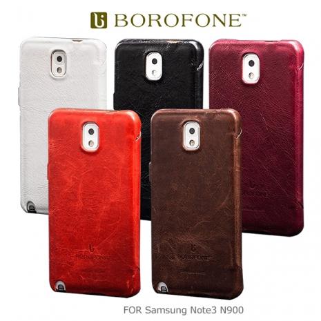 BOROFONE Samsung Galaxy Note 3 N900 N9005 奢華將軍 側翻磁扣皮套 保護套咖啡色