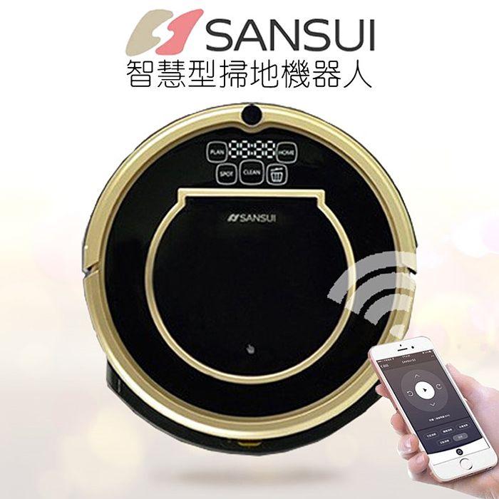 媲美KOBOT 日本山水 SANSUI 防碰撞 自動回充 智慧 吸塵器 拖地 Wifi無線智慧掃地機器人-黑金