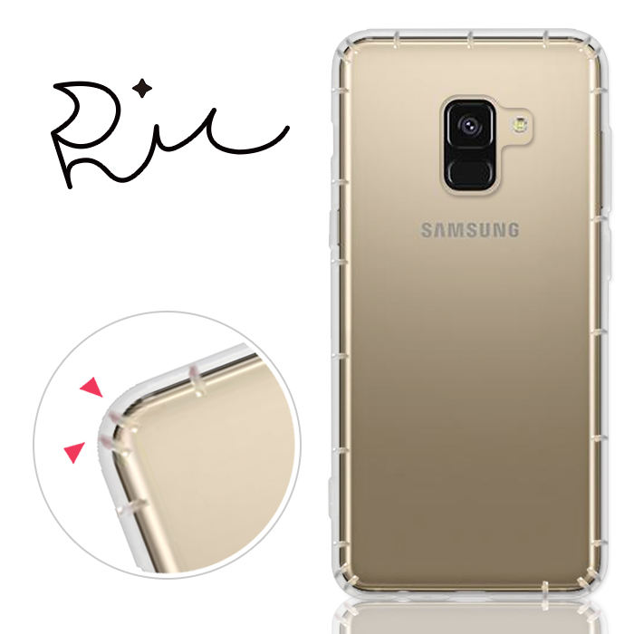 RedMoon 三星 Galaxy A8-2018 防摔透明TPU手機軟殼 5.6吋