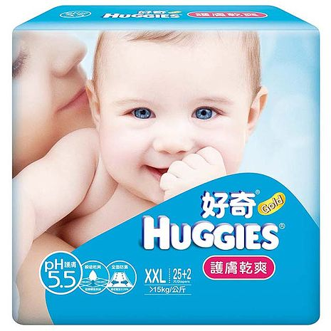【金好奇】pH5.5 護膚乾爽紙尿褲XXL (25+2)片x6包/箱
