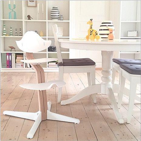 丹麥nomi 多階段兒童成長學習調節椅超值組 (4色可選)白色