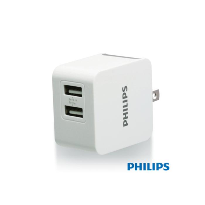 PHILIPS 飛利浦 3.1A DLP3012 雙USB高效能充電器 座充