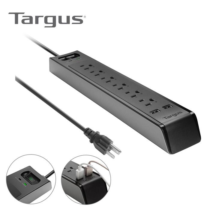 Targus 防突波6孔延長線+2port USB (APS14AP)