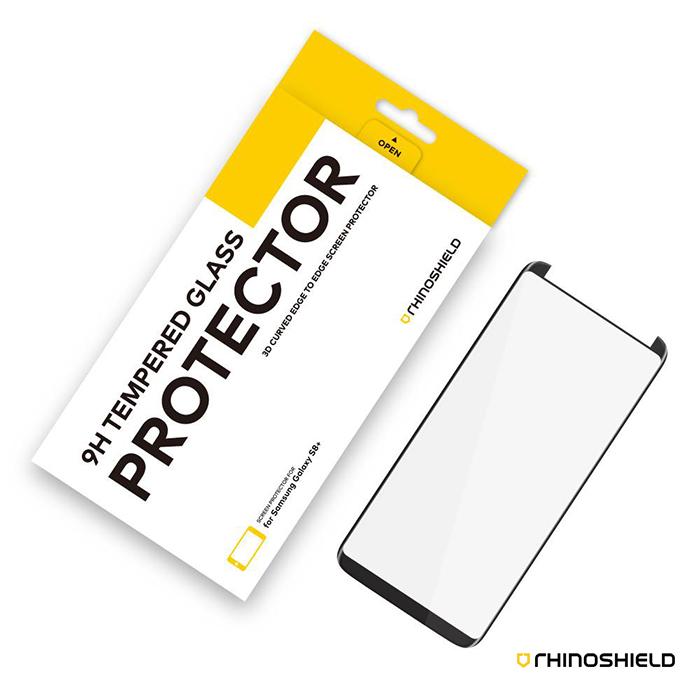 犀牛盾 Samsung S8 Plus 9H 3D滿版玻璃保護貼 - 黑色