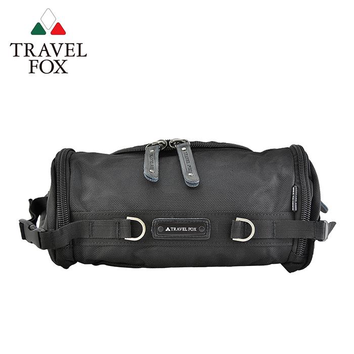 【TRAVEL FOX 旅狐】經典防潑水臀/腰/斜背包 TB236-01 黑色