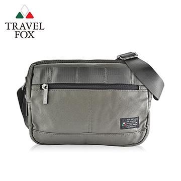 【TRAVEL FOX 旅狐】輕巧雙料防撥水帆布側背包 TB663-17 綠色