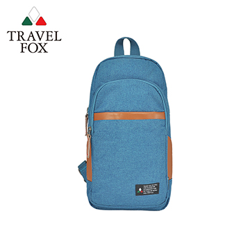 【TRAVEL FOX 旅狐】單肩/雙肩兩用輕巧後背包 TB689-77 藍色