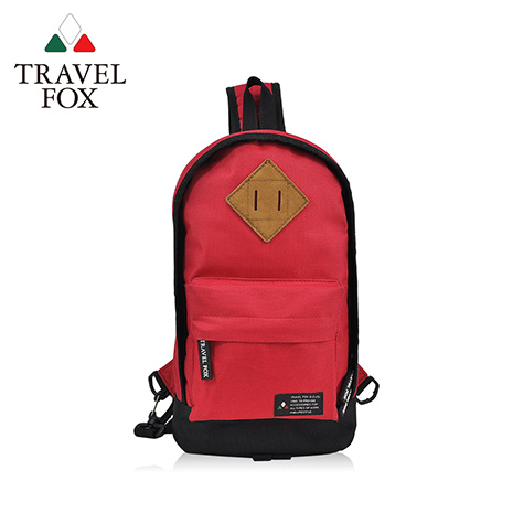 【TRAVEL FOX 旅狐】尼龍輕巧豬鼻系單肩斜背包 TB666-04 紅色