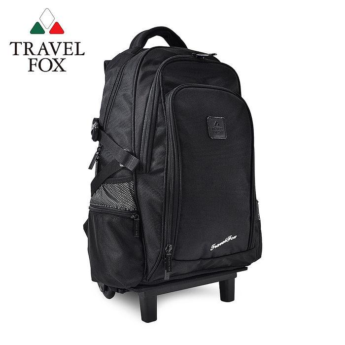 【TRAVEL FOX 旅狐】可拆卸式多功能拉桿包/後背包TB616-01 黑色