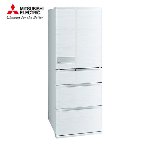 MITSUBISHI 三菱 605公升 日本原裝六門變頻冰箱-絹絲白 MR-JX61C-W-C