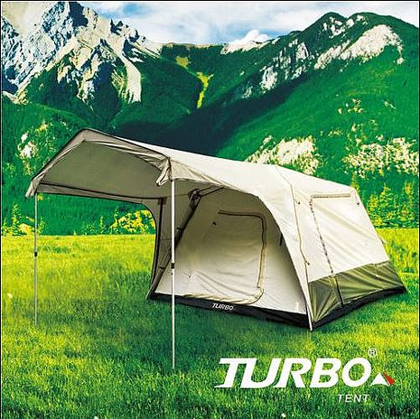 【TURBO TENT】TURBO Lite300 專利快速帳 8人帳 一房一廳限量送雙針營柱及野營桌椅組合