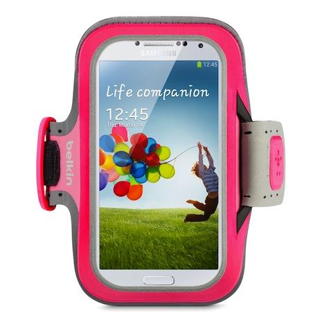 Belkin 舒適 運動 臂套 Armband Galaxy S4 粉紅色