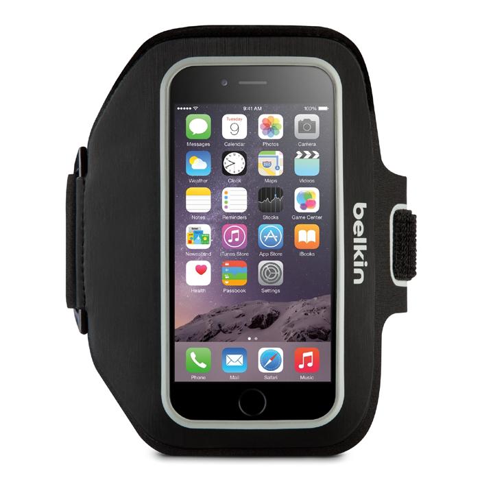 Belkin iPhone 6 plus(5.5吋)運動臂套黑黃